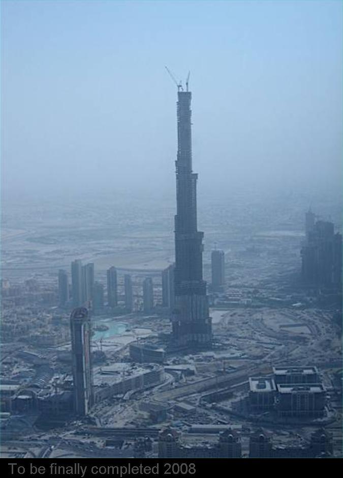 Burj Dubai....900 meters high