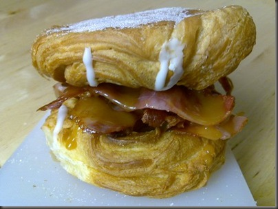 Bacon And Fudge Danish Breakfast Sandwich