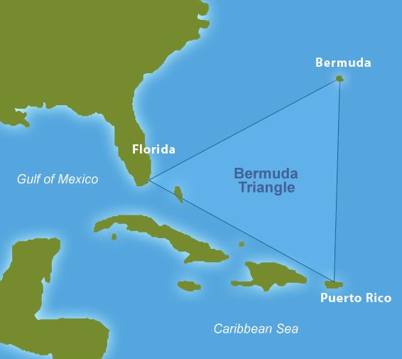 that the conditions responsible for the mystery of the Bermuda Triangle