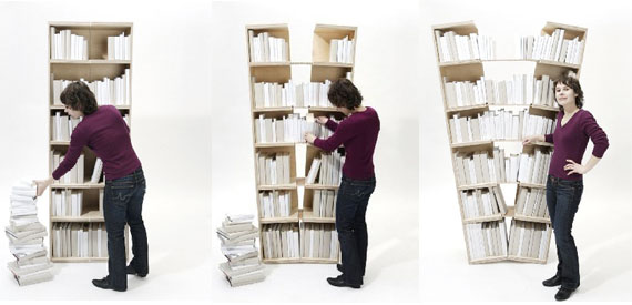 Platzhalter Expanding Bookshelf