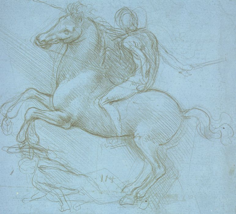 Study for the Sforza Monument, c. 1488-9