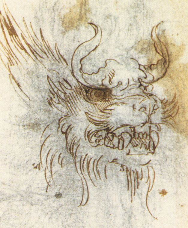 Detail from a Study of a Dragon Costume, c. 1517-8