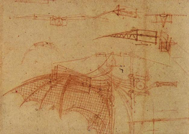 Design for a Flying Machine, c. 1505