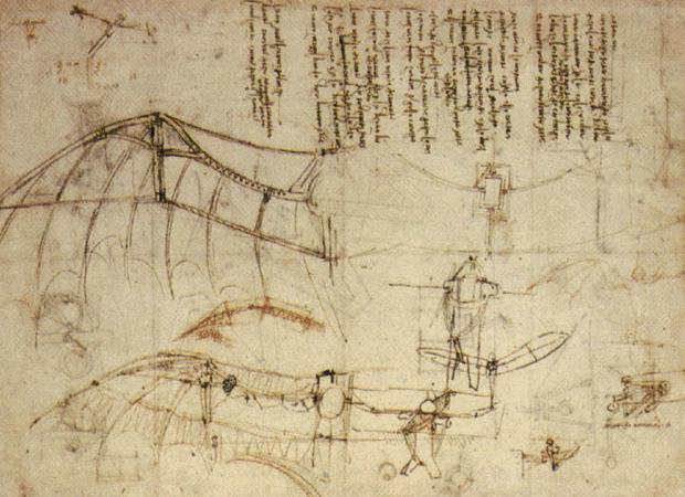 Design for a Flying Machine, c. 1488