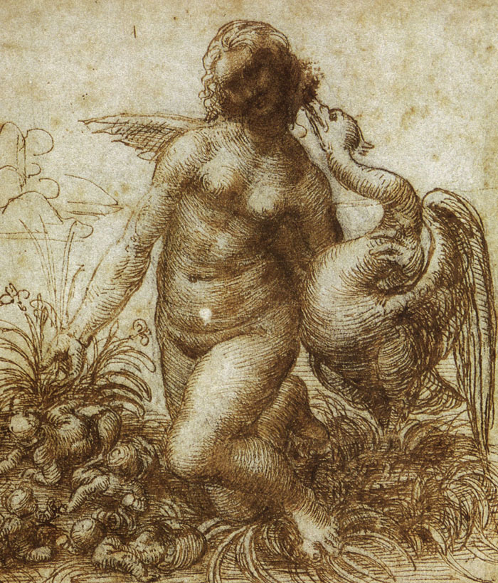 Study for the Kneeling Leda, c. 1505-7