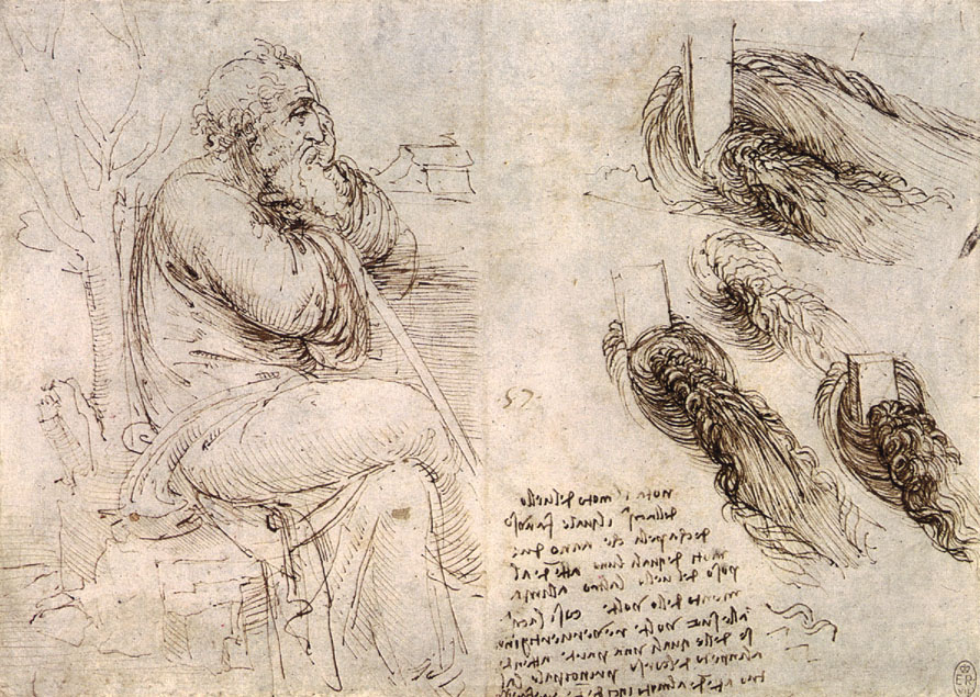 Old Man with Water Studies, c. 1513