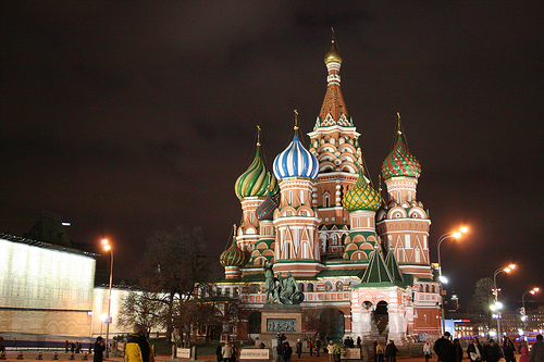 St. Basil's Cathedral at night (Image Credit: rwike77 (Flickr))