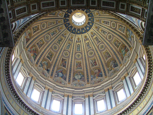 Cupola or dome of St. Peter's Basilica (Image Credit: robert_562 (Flickr))